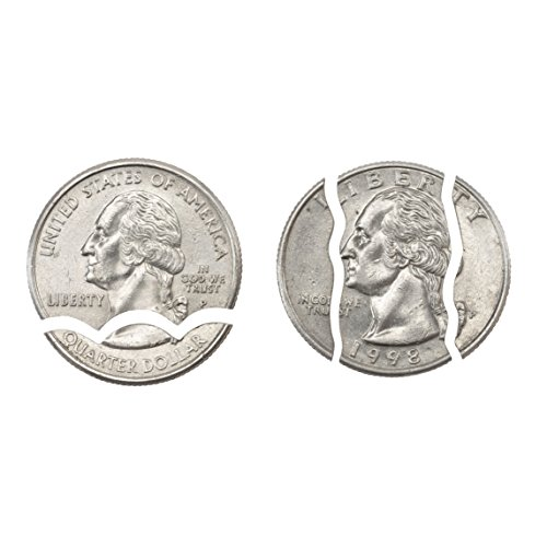 London Magic Works Bite Out Quarter AND Folding Coin - Both Geniuine US Quarters - Two Tricks For All Skill Levels (1 Pack) by London Magic Works