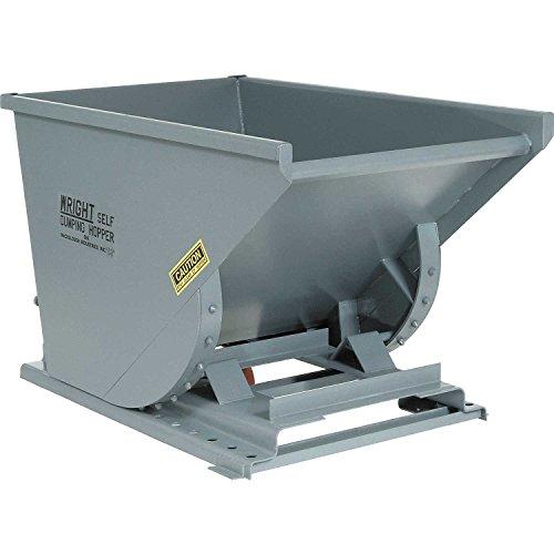 Wright Self Dumping Hopper - Heavy-Duty Self-Dumping Hoppers - 3/4 Cu Yd - Gray