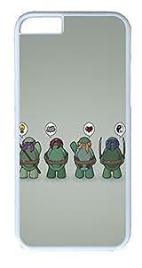 iPhone 6 Plus Cases, ACESR Plastic Hard Case Cover for Apple iPhone 6 Plus (5.5inch Screen) White Border Funny Tmnt Teenage Mutant Ninja Turtles