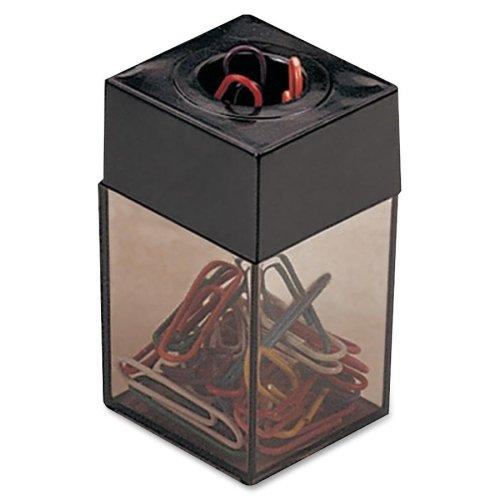 Officemate International Corp. 93690 Clip Dispenser, Magnetic, Smoke/Black