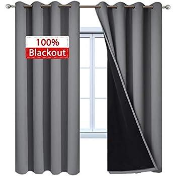 Amazon Com Quinn Grommet Top 100 Blackout Window Curtain