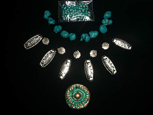 Junesgems Jewelry Necklace Lot Loose Bead Simulated Turquoise Nugget Southwest