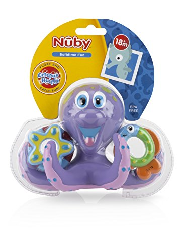 Nuby Octopus Hoopla Bathtime Fun Toys,
