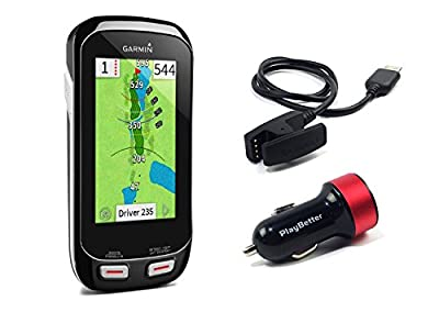 Garmin Approach G8 Handheld Golf GPS with PlayBetter USB Car Charge Adapter