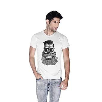 Creo Beard Pipe Retro T-Shirt For Men - Xl, White