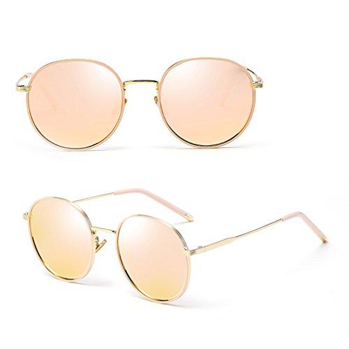 Color Pink 100 Sol De Gafas Protección Del De Gafas Hombres De De La Nuevos ULTRAVIOLETA Los WANGXIAOLIN Redondas Sol Polarizadas Gris Vendimia ZHw1OqqUT