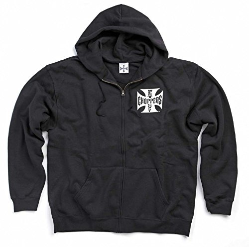 West Coast Choppers Black Iron Cross Zip Hoody (L , Black) (West Choppers Hoodie compare prices)