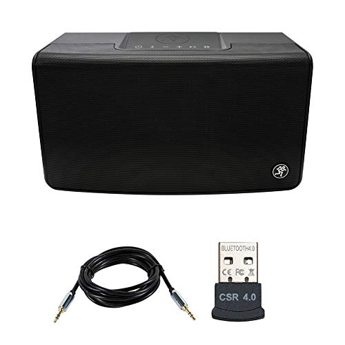 Mackie FreePlay Home Portable Bluetooth Speaker Bundle with USB Bluetooth Adapter and Aux Cable