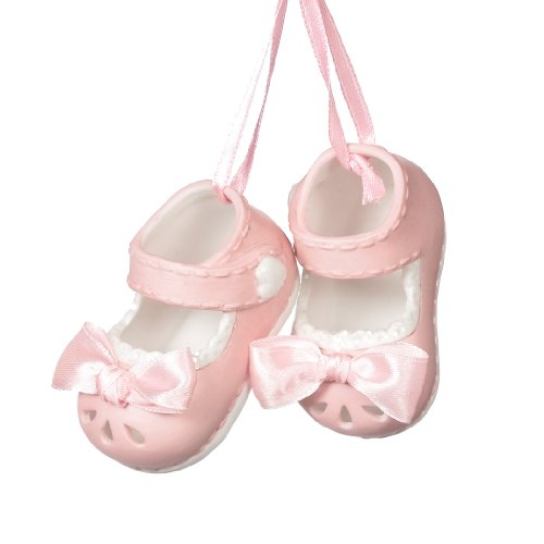 MIDWEST-CBK Baby Girl Shoes Ornament Pink ()