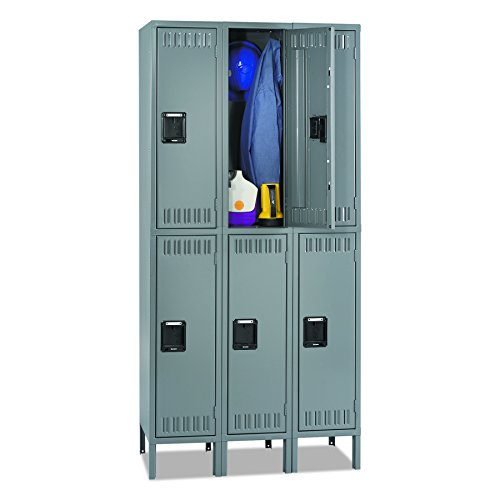 Tennsco DTS1218363MG Double Tier Locker with Legs, Triple Stack, 36w x 18d x 78h, Medium - Heavy Duty Cabinet 36w