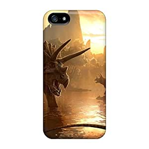Fashionable Style Case Cover Skin For Iphone 5/5s- Triceratops