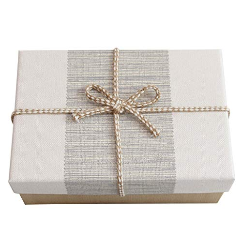 Retro Style Rectangular Gift Box for Birthday Anniversary Giving Parents Leadership (Size : S(21.5×14.5×8.5cm)) -