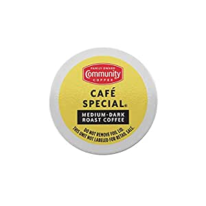 Community Coffee Café Special 36 Count Coffee Pods, Medium-Dark Roast, Compatible with Keurig 2.0 K-Cup Brewers, Box of 36 Pods