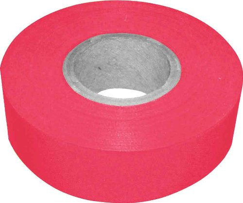 Bon 84-837 300-Feet by 1-3/16-Inch 4-Mil High Visibility Flagging Tape, Red, 12-Pack (300' Flagging Tapes)
