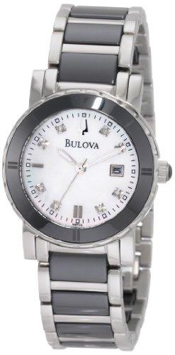 Bulova Women's 98P122 Highbridge Substantial Ceramic & Stainless Steel Watch