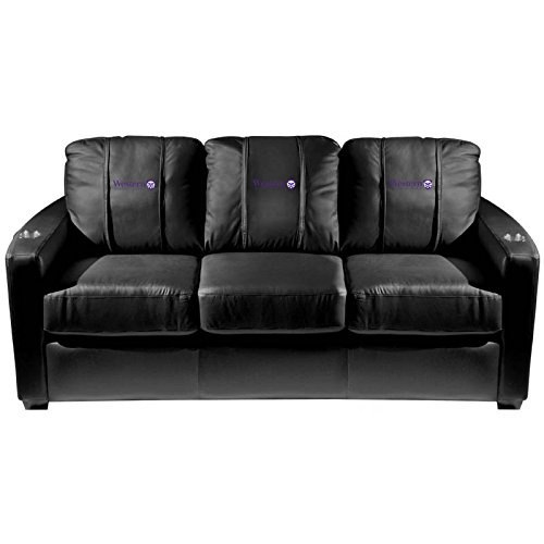 XZipit College Silver Sofa with Western University Canada Logo Panel, Black