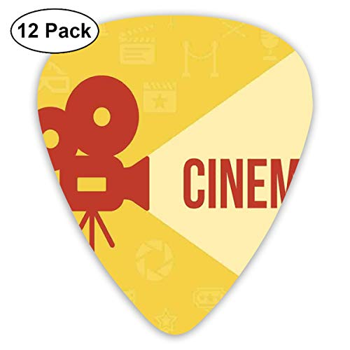 Guitar Picks - Abstract Art Colorful Designs,Projector Silhouette