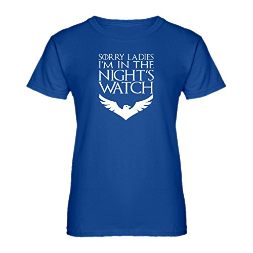 Indica Plateau Womens Sorry Ladies Nights Watch Small Royal Blue T-Shirt