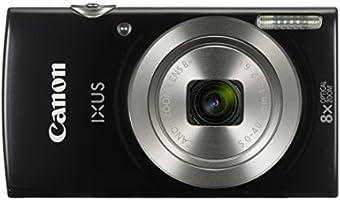 """Canon IXUS 185 Fotocamera Digitale Compatta, 20 MP, 1/2.3"""", CCD, 5152 x 3864 Pixel, Nero [Versione EU]"""