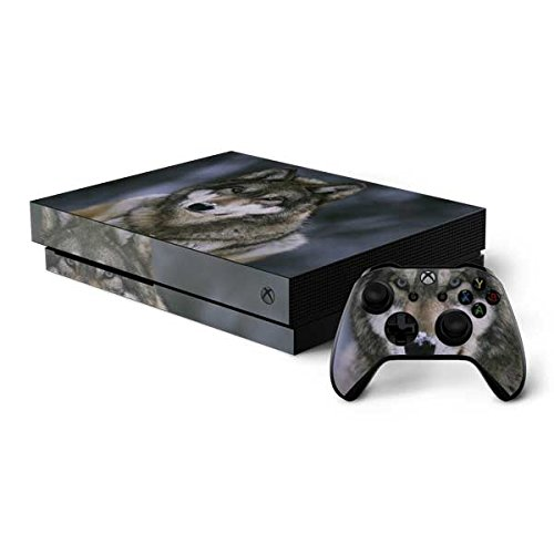 Skinit Animal Photography Xbox One X Bundle Skin - Gray Wolf at International Wolf Center | Animals Skin by Skinit