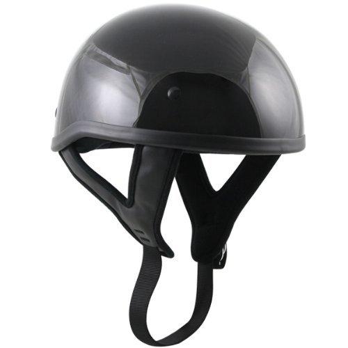 Outlaw Skull Cap Helmet - Gloss Black - - Dot Outlaw Gloss