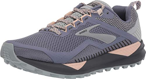 Brooks Women's Cascadia 14 Grey/Pale Peach/Pearl 10.5 B US