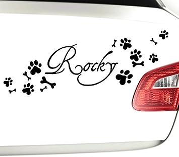 Wandtattoo Gunstig X8081 Autoaufkleber Wunschname 8 Hundepfoten