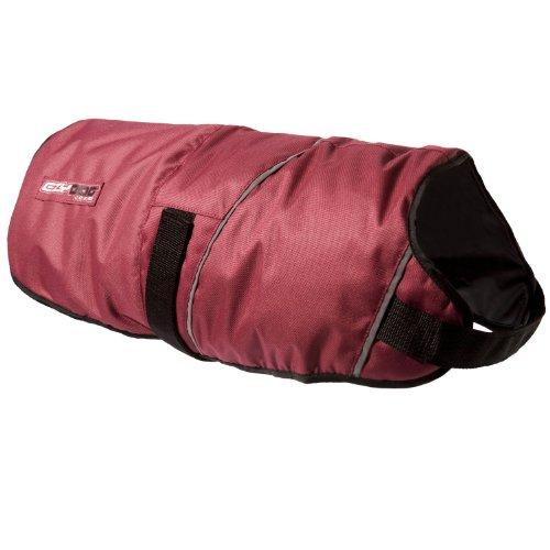 EzyDog Showerproof Field Coat, Medium, Burgundy, My Pet Supplies