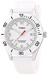 Timex Silicone White Dial Men's watch #T2N533
