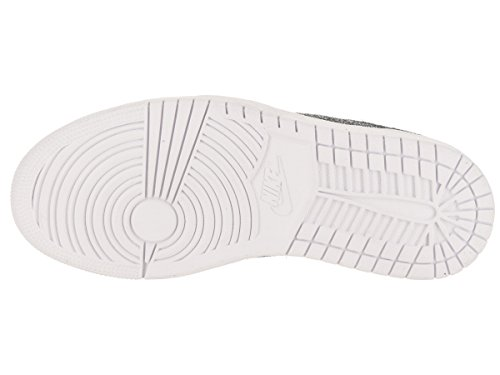 Jordan Nike Womens Air 1 Retro Bassa Ns Scarpa Da Basket Nero / Metallico Oro Bianco
