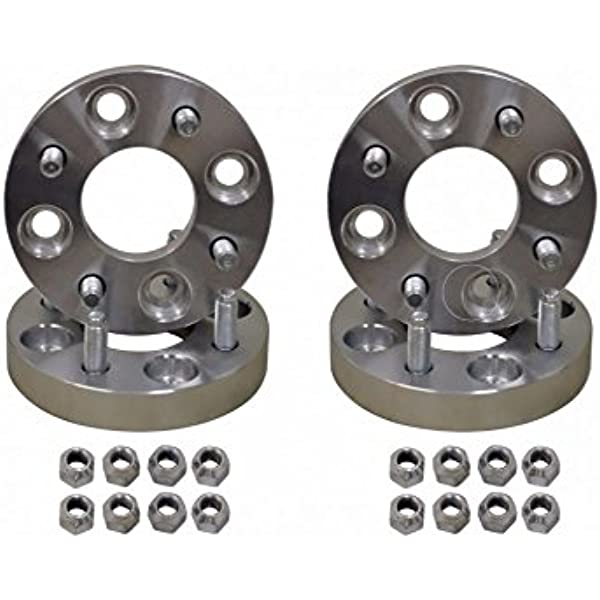 SuperATV 1 Wheel Spacers for 4//156 Bolt Patterns with M12x1.25 Wheel Studs Includes 2 Wheel Spacers Heavy-duty 6061 billet aluminum Fits Kawasaki KRX 1000 // Yamaha Wolverine RMAX 2 // RMAX 4