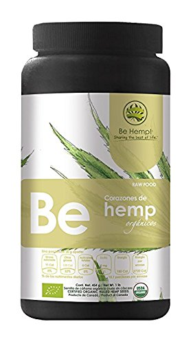 Be Hemp ! Premium Organic Hemp Seeds Hulled. 6 pack - 1 lb. Canister (6 lb. total).