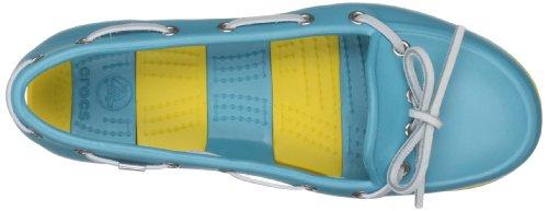 Bleu Aqua Beach femme Mocassins Crocs Line Yellow Aqua CXwvqX1A