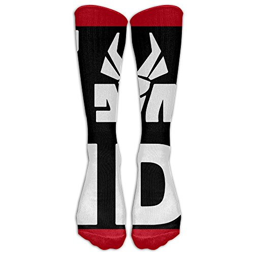 HEI222-Costume-Cosply-Socks-Halloween-Funny-Unisex-Die-Antwoord-Zef-Side-Logo-Ugly-Boy-Knee-High-Socks-Long-Athletic-Sport-Socks