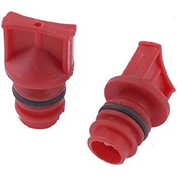 uxcell 2 Pcs Red Plastic Housing 18mm Dia Male Thread Oil for Air Compressor
