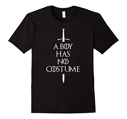 Mens A Boy Has No Costume Funny Halloween Outfit Shirt Large (90's Era Costumes)