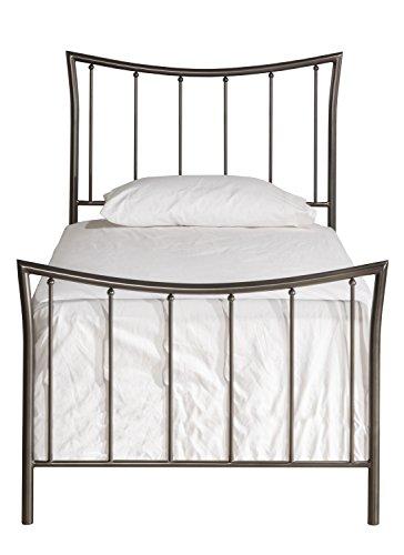 Hillsdale Furniture 1333BTW Edgewood Bed Set, Twin, Magnesium Pewter