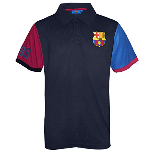 FC Barcelona Official Soccer Gift Mens Contrast Sleeve Polo Shirt XL (Best Golf Gifts For Him 2019)