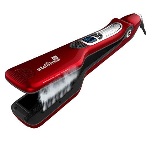 Amazon.com : Steam Hair Straightener Brush Electric Titanium Profissal Steam Flat Iron Styling Hair Straightening Comb White US : Beauty