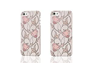 floral flower vinyl wallpaper cream rose 3D Rough iphone 5 5S Case Skin, fashion design image custom iPhone 5 5s , durable iphone 5 5S hard 3D case cover for iphone 5 5S, Case New Design By Codystore