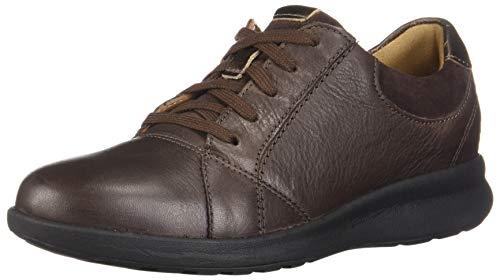 CLARKS Women's Un Adorn Lace Dark Brown Leather/Suede Combination 6.5 B US