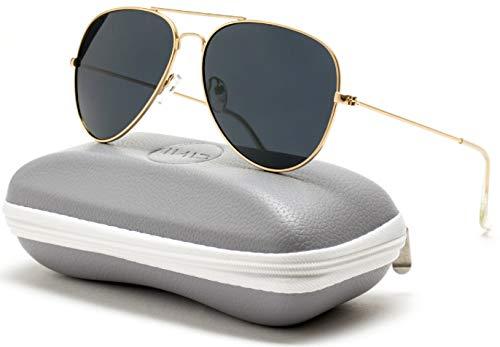 WearMe Pro - Premium Classic Fashion Design Polarized Lens Aviator Sunglasses -