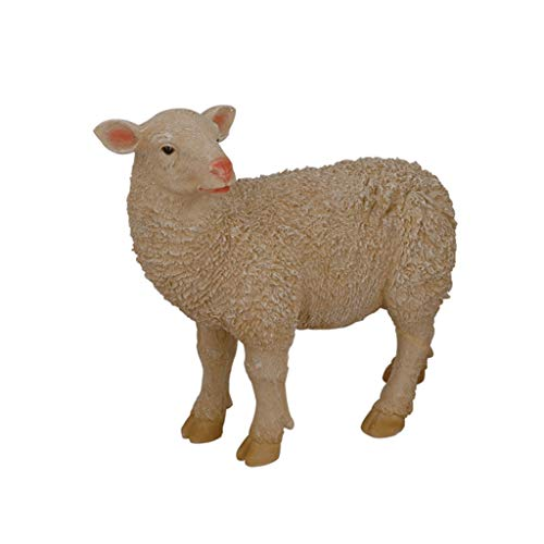 LIAN Simulation Animal Sheep Sculpture, Garden Decoration Garden Decoration, Park Outdoor Resin Sculpture
