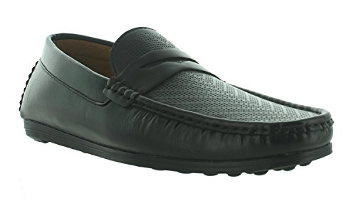 Aldo Rossini Menns Ridge-en Slip-on Loafer Sko Svart