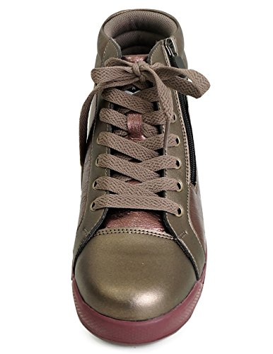 Mnx15 Mens Ascensore Scarpe Altezza Aumento 2.4 Vincent Brown Sneakers Con Zeppa Tacco Alto Sneakers Marrone