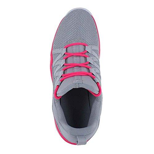Jordan deca Fly GG Girls Fashion-Sneakers 844371 Wolf Grey White Pink White