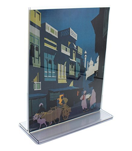 (Casepack of 25)Top Loading Double Sided Sign Holder - 5.5''W x 8.5''H by ShopPOPdisplays.com