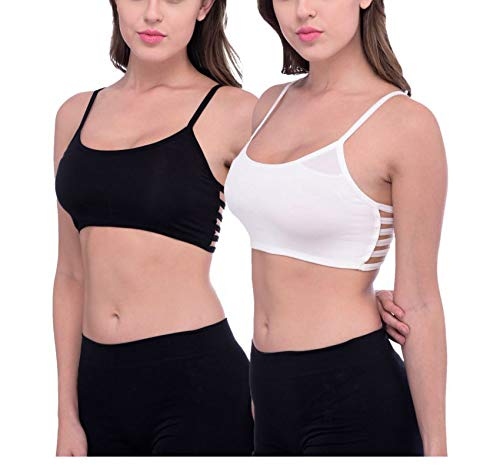 f3c010e839 Galani IndiaDeal Combo of 2 Bralette Bra Padded 6 Strap Sports Gym Yoga  Dancing Workout Aerobic