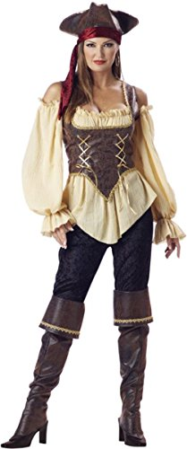 Rustic Pirate Lady Costume - X-Large - Dress Size 16-18 (Homemade Gauze Zombie Costume)