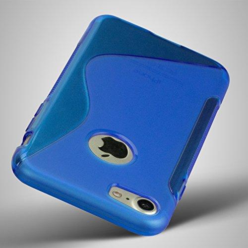 S-Line Case für iPhone 7 Silikon-Hülle TPU Schutzhülle Blau